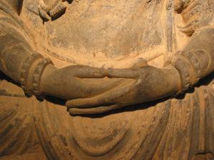 Resting hands of Buddha