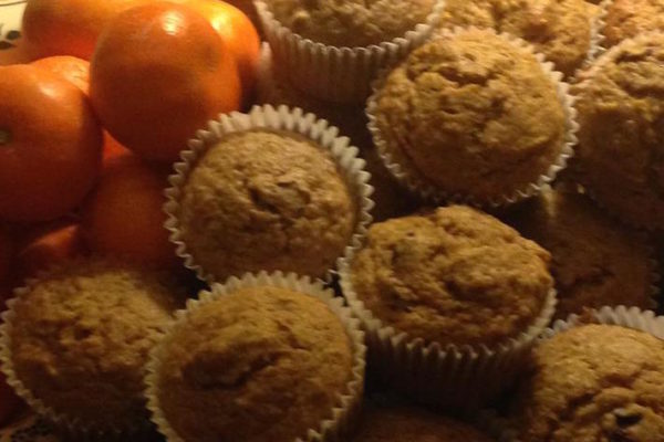 muffins and oranges