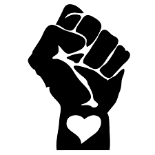 a fist and a heart together