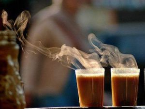 cups of steaming chai
