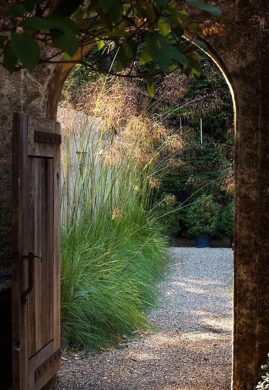 an open garden gate